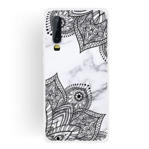 Diagonal Lace Matte Semi-transparent TPU Marble Phone Case for Huawei P30