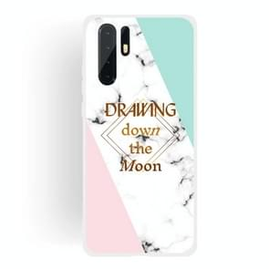 Dreamcatcher Text Semi-transparent TPU Marble Phone Case for Huawei P30 Pro