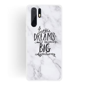 Dream Text Matte Semi-transparent TPU Marble Case for Huawei P30 Pro