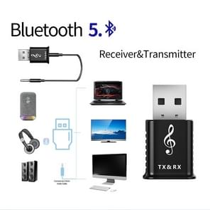 MSD168 2 in 1 Bluetooth Transmitter Receiver Mini 3.5mm AUX Stereo Wireless Bluetooth 5.0 Adapter For Car TV PC MP3