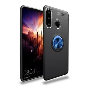 Metal Ring Holder 360 Degree Rotating TPU Case for Huawei  P30 Lite(Black+Blue)