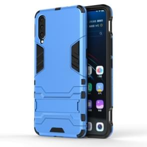 Shockproof PC + TPU Case for Vivo V15 Pro, with Holder(Blue)