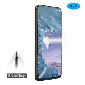 2 stuks DIDIT Hat-Prince 0.1 mm 3D Full Screen Protector Explosiebestendige hydrogel film voor Nokia X71