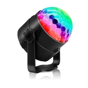 YouOKLight YK2278 3W Sound Activated Party DJ Lighting RBG Disco Ball Strobe Lamp Stage Par Light with 7 Modes, Without Remote Control