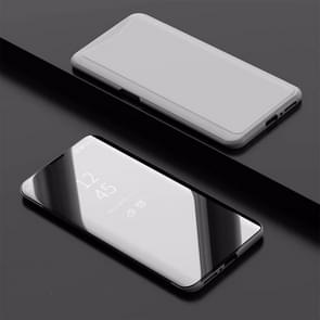Electroplating Mirror Horizontal Flip Leather Case for OPPO Find X, with Holder(Silver)