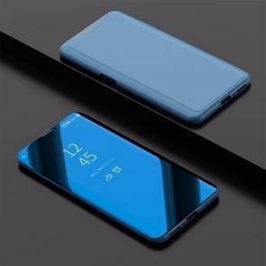 Electroplating Mirror Horizontal Flip Leather Case for OPPO Find X, with Holder(Sky Blue)
