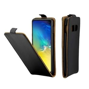 Business Style Vertical Flip TPU Leather Case with Card Slot for Galaxy S10e(Black)
