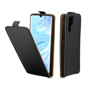 Business Style Vertical Flip TPU Leather Case with Card Slot for Huawei P30 Pro(Black)