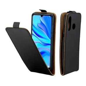Business Style Vertical Flip TPU Leather Case with Card Slot for Huawei P30 Lite / Nova 4e(Black)