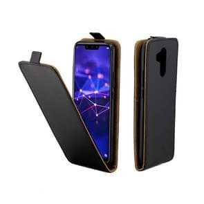 Zakelijke stijl verticale Flip TPU lederen tas met kaartsleuf voor Huawei mate 20 Lite/Maimang 7 (zwart)