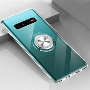 Ultra-thin TPU Protective Case for Galaxy S10, with 360 Degree Rotation Holder(Transparent)