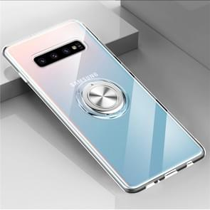Ultra-thin TPU Protective Case for Galaxy S10+, with 360 Degree Rotation Holder(Transparent)