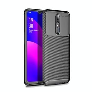 Beetle Series Carbon Fiber Texture Shockproof TPU Case for OPPO F11(Black)