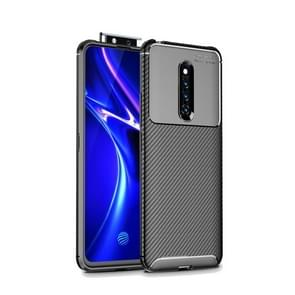 Beetle Series Carbon Fiber Texture Shockproof TPU Case for Vivo X27 Pro(Black)