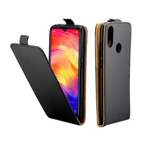 Business Style Vertical Flip TPU Leather Case with Card Slot for Xiaomi Redmi Note 7(Black)