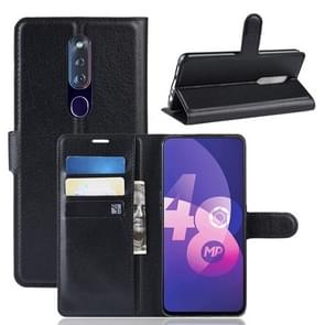 Litchi Texture Wallet Leather Stand Protective Case for OPPO R11 Pro(black)