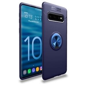 Schokbestendig TPU Case voor Galaxy S10  met houder (blauw)