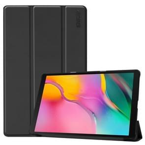 ENKAY hoge kwaliteit PU leder + kunststof bodem geval met drie-opvouwbare houder voor Samsung Galaxy tab A 10 1 (2019) T510/T515 (zwart)