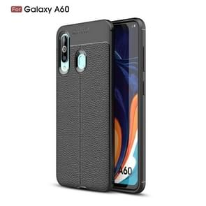 Litchi Texture TPU Shockproof Case for Galaxy A60(Black)