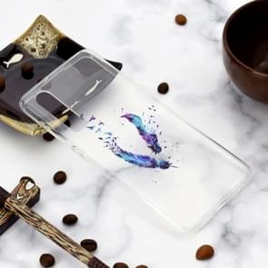 Marmer patroon TPU schokbestendig beschermende terug Cover Case voor Huawei P30 (Feather)