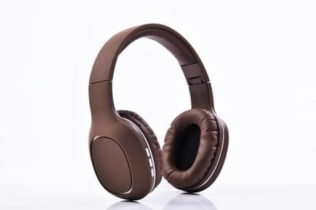 Z3-08 hoofd-gemonteerde kaart telefoon kleine draadloze Bluetooth Headset Stereo hoofdtelefoon (bruin)