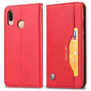 Knead Skin Texture Horizontal Flip Leather Case for Xiaomi Redmi Note 7 & 7 Pro, with Photo Frame & Holder & Card Slots & Wallet(Red)