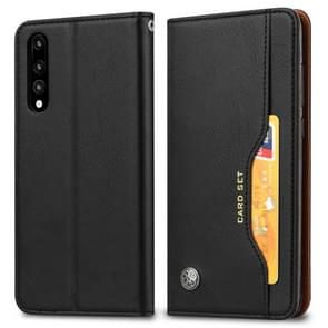 Knead Skin Texture Horizontal Flip Leather Case for Xiaomi Mi 9, with Photo Frame & Holder & Card Slots & Wallet(Black)