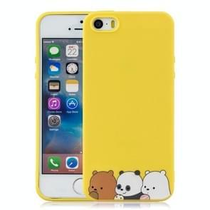 Schokbestendige beschermer cover volledige dekking siliconen case voor iPhone 5/5s (de beren)