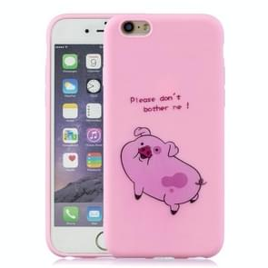 Schokbestendige beschermer cover volledige dekking silicone case voor iPhone 6 plus/6s plus (Pink Pig)