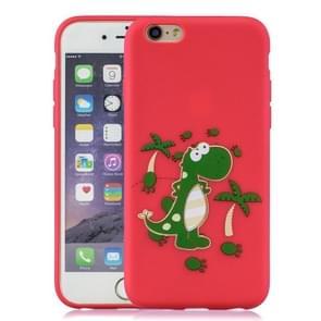 Schokbestendige beschermer cover volledige dekking siliconen case voor iPhone 6 plus/6s plus (dinosaurus)