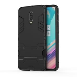 Shockproof PC + TPU Case for 一加7 / 一加6T , with Holder(Black)