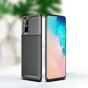 Voor Sumsung Galaxy Note 20 Carbon Fiber Texture Shockproof TPU Case(Zwart)