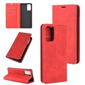 Voor Samsung Galaxy Note20 Retro-skin Business Magnetic Suction Leather Case met Holder & Card Slots & Wallet(Red)