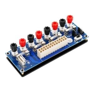Upgrade versie ATX 20-24Pin Power Supply Breakout Adapter met USB 5V-poort en isolatie plastic basis