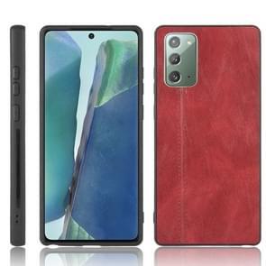 Voor Samsung Galaxy Note20 Schokbestendige naaikoeienhuid PC + PU + TPU-hoesje(rood)
