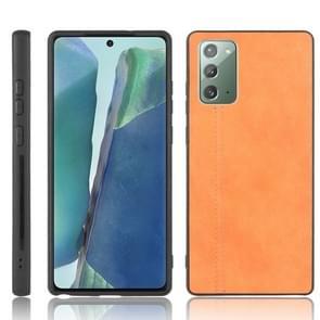 Voor Samsung Galaxy Note20 Schokbestendige naaikoeienhuid PC + PU + TPU-hoesje(Oranje)