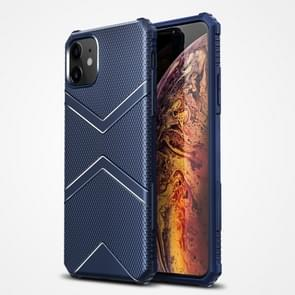 Voor iPhone 12 Diamond Shield TPU Drop Protection Case(Blauw)