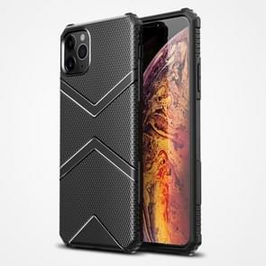 Voor iPhone 12 Pro Max Diamond Shield TPU Drop Protection Case(Zwart)