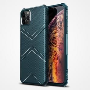 Voor iPhone 12 Pro Max Diamond Shield TPU Drop Protection Case(Groen)