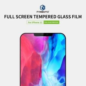 Voor iPhone 12 PINWUYO 9H 2.5D Full Screen Tempered Glass Film(Zwart)