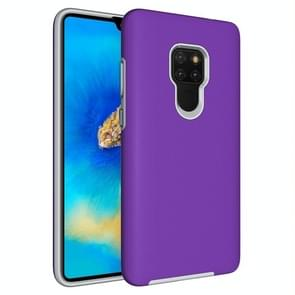 Anti-slip Armor Texture TPU + PC Case for Huawei Mate 20(Purple)