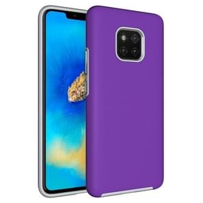 Anti-slip Armor Texture TPU + PC Case for Huawei Mate 20 Pro(Purple)