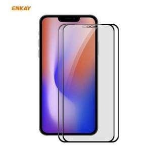 2 PCS ENKAY Hat-Prince 0.26mm 9H 6D Privacy Anti-spy Full Screen Tempered Glass Film For iPhone 12 / 12 Pro