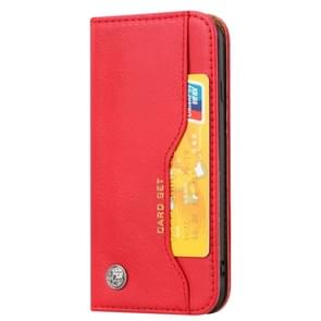 Knead Skin Texture Horizontal Flip Leather Case for iPhone 6/iPhone 7/iPhone 8, with Photo Frame & Holder & Card Slots & Wallet(Red)