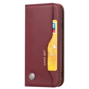Knead Skin Texture Horizontal Flip Leather Case for iPhone 6/iPhone 7/iPhone 8, with Photo Frame & Holder & Card Slots & Wallet(Wine Red)
