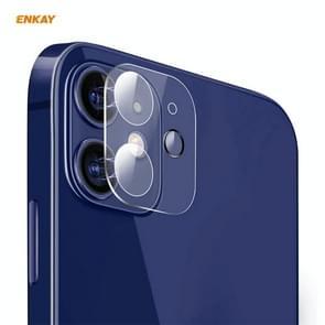 Voor iPhone 12 ENKAY Hat-Prince 9H Camera Lens Achtercamera Gehard glas Film Volledige Dekking Protector