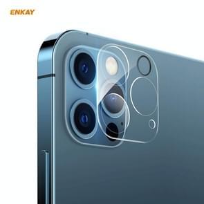 Voor iPhone 12 Pro Max ENKAY Hat-Prince 9H Camera Lens Gehard glas film volledige dekking Beschermer
