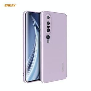 Voor Xiaomi Mi 10 Pro 5G Hat-Prince ENKAY ENK-PC076 Liquid Siliconen Straight Edge Schokbestendige beschermhoes(Paars)