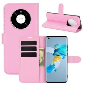 Voor Huawei Mate 40 Litchi Texture Horizontale Flip Beschermhoes met Houder & Card Slots & Wallet(Pink)