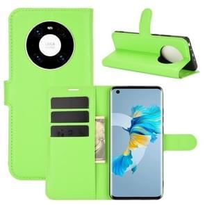 Voor Huawei Mate 40 Litchi Texture Horizontale Flip Beschermhoes met houder & kaartslots & portemonnee(groen)